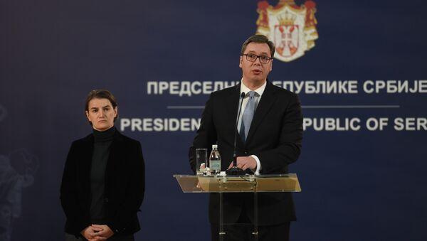 Aleksandar Vučić i Ana Brnabić - Sputnik Srbija