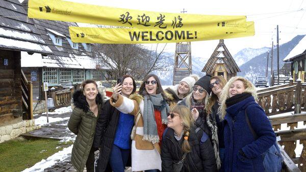 Посетиоци Дрвенграда уочи почетка фестивала Кустендорф. - Sputnik Србија