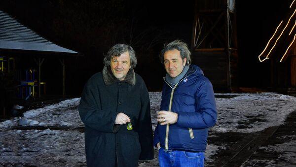 Emir Kusturica i Paolo Sorentino na Mećavniku - Sputnik Srbija