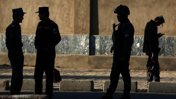 Afganistanska policija na mestu samoubilačkog napada u Kabulu. 27. februar 2016. - Sputnik Srbija