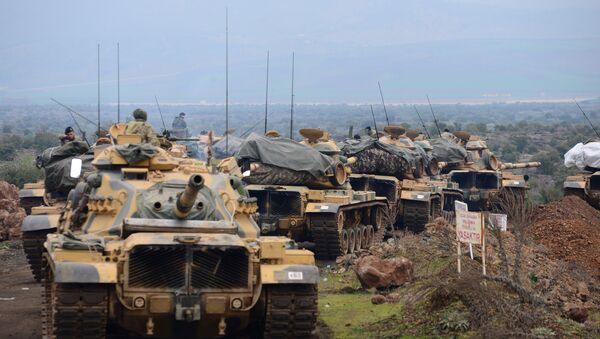 Турски војници у близини града Хаса на турско-сиријској граници у турској провинцији Хатај - Sputnik Србија