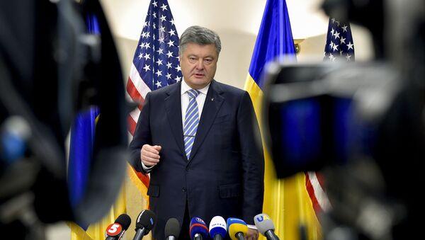Председник Украјине Петро Порошенко - Sputnik Србија