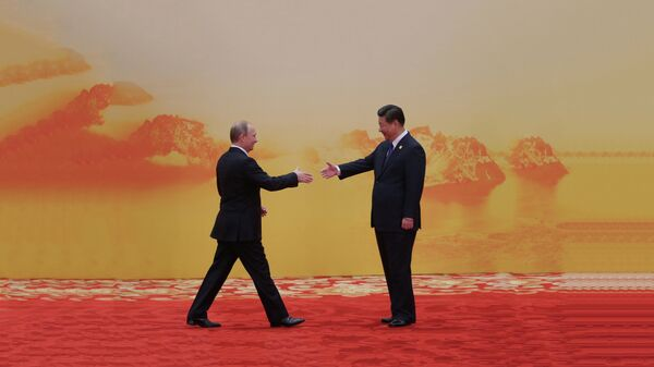 Vladimir Putin i Si Đinping na samitu Azijsko-pacifičke ekonomske saradnje - Sputnik Srbija