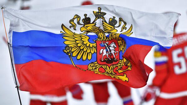 Zastava sa grbom Rusije - Sputnik Srbija