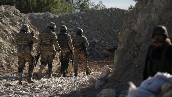 Борци Слободне сиријске армије североисточно од Африна - Sputnik Србија