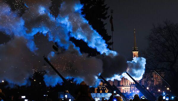Почасна паљба на Марсовом пољу за 74. годишњицу пробоја блокаде Лењинграда - Sputnik Србија