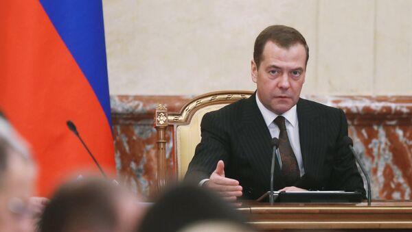 Премијер Русије Дмитриј Медведев на седници Владе Русије - Sputnik Србија