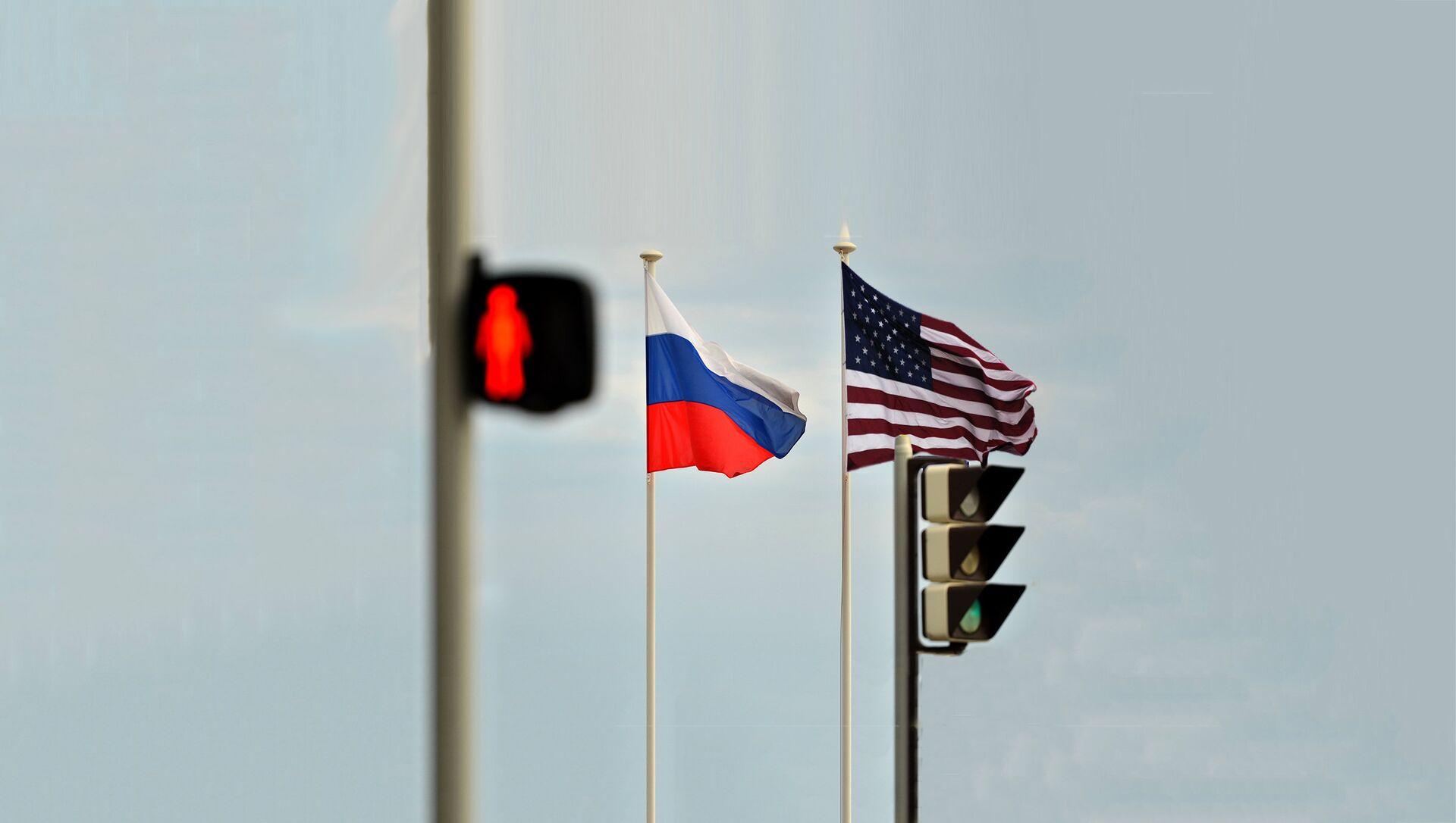 Заставе Русије и SAD - Sputnik Србија, 1920, 16.02.2021