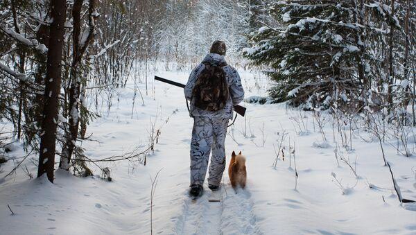 Lovac u zimskoj šumi - Sputnik Srbija