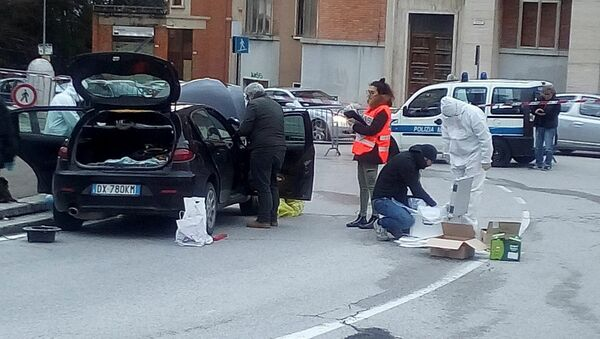 Mesto napada u Mačerati - Sputnik Srbija