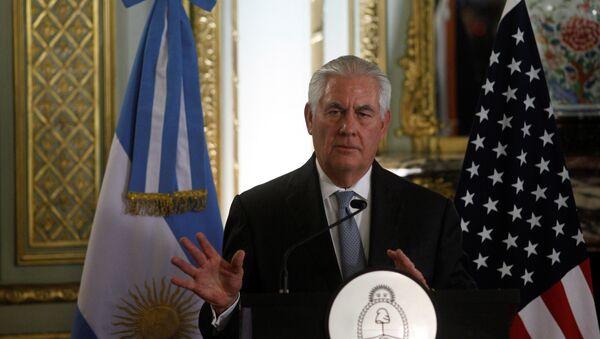 Амерички државни секретар Рекс Тилерсон на конференцији за медије у Буенос Аиресу - Sputnik Србија