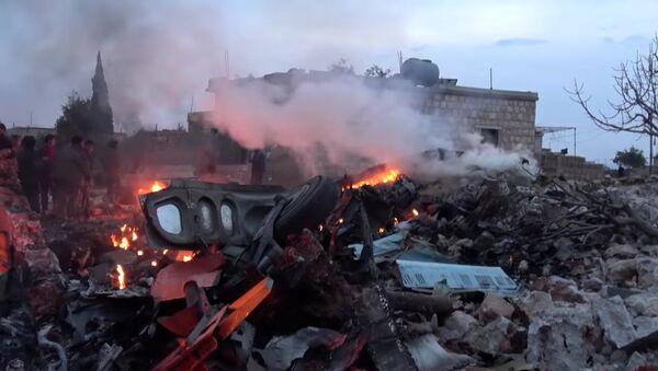 Mesto gde je oboren Su-25 u Idlibu - Sputnik Srbija