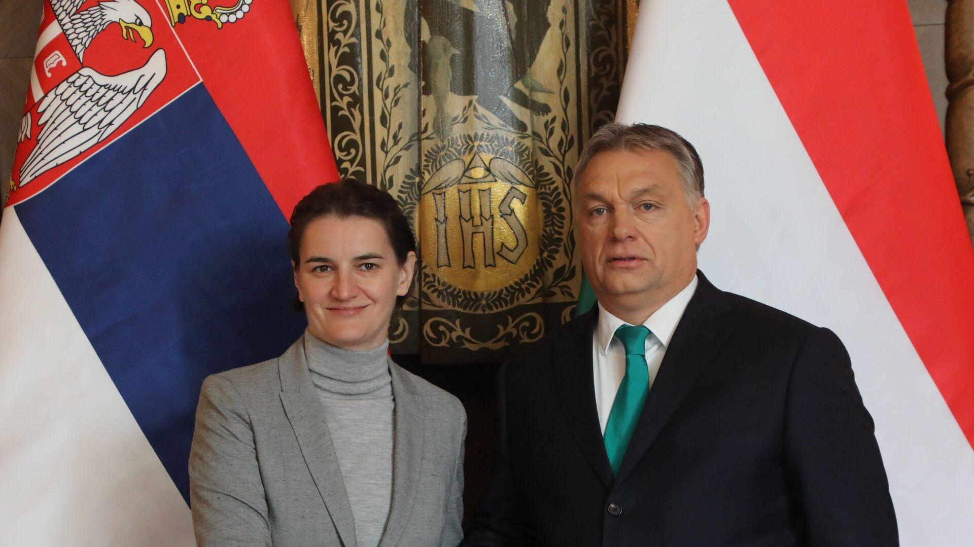 Premijer Mađarske Vikotr Orban i premijerka Srbije Ana Brnabić - Sputnik Srbija, 1920, 07.09.2021