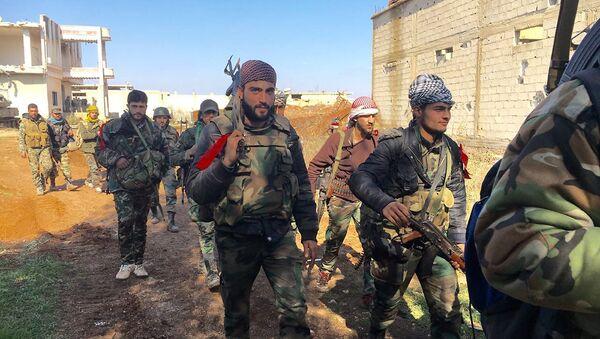 Припадници сиријске војске у провинцији Дера - Sputnik Србија