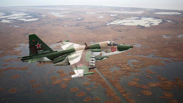 Jurišni avion Su-25 tokom obuke u Krasnodarskom kraju - Sputnik Srbija