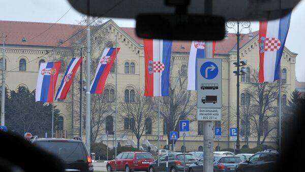 Загреб приликом доласка председника Србије Александра Вучића - Sputnik Србија