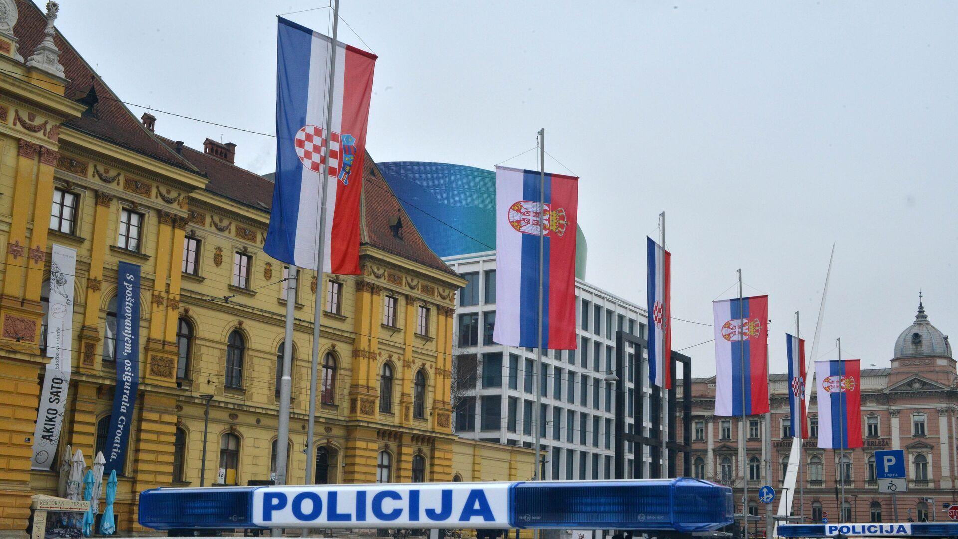 Zagreb prilikom dolaska predsednika Srbije Aleksandra Vučića - Sputnik Srbija, 1920, 28.09.2021