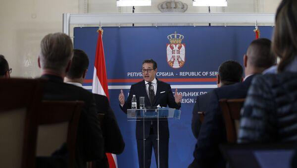 Hajnc Kristijan Štrahe na konferenciji sa novinare - Sputnik Srbija