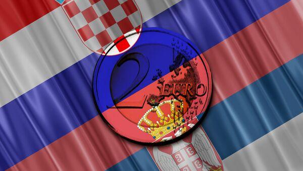 Srbija Hrvatska zastave - Sputnik Srbija