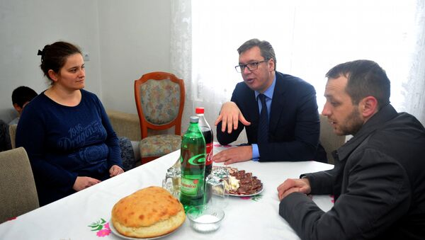 Vučić u Vrginmostu - Sputnik Srbija