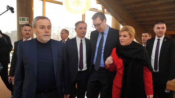 Aleksandar Vučić, Kolinda Grabar Kitarović, Milorad Pupovac i Milan Bandić - Sputnik Srbija