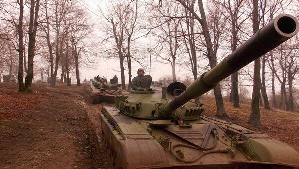 Тенкови Друге бригаде Копнене Војске на вежби. - Sputnik Србија