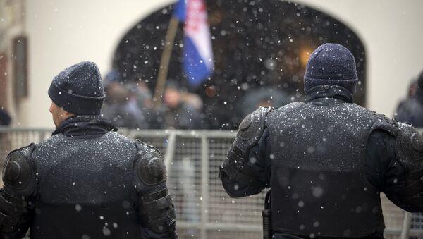 Полиција током посете Александра Вучића Загребу - Sputnik Србија
