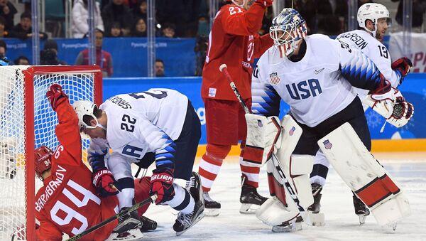 Олимпијада 2018. Хокеј, утакмица Русија - САД - Sputnik Србија