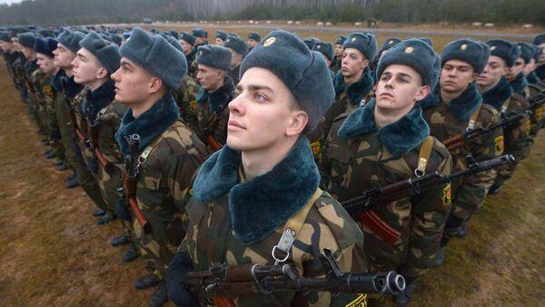 Војници 72. војне школе белоруских оружаних снага полажу заклетву у Борисову - Sputnik Србија