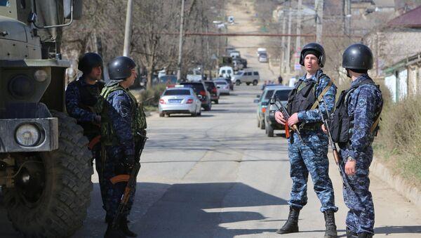 Припадници полиције Дагестана током противтерористичке операције - Sputnik Србија