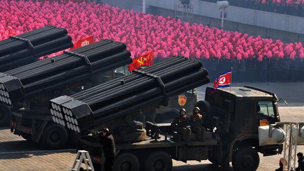 Војна парада у Пјонгјангу, Северна Кореја - Sputnik Србија