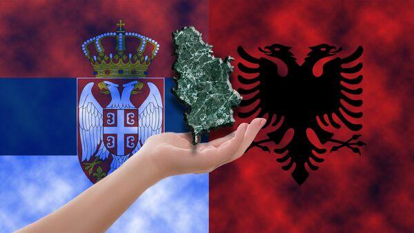 Srbija Albanija - ilustracija - Sputnik Srbija