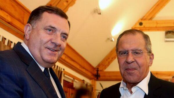Milorad Dodik i Sergej Lavrov - Sputnik Srbija