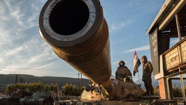 Војници сиријске војске на сиријско-турској граници у близини града Кесаб - Sputnik Србија