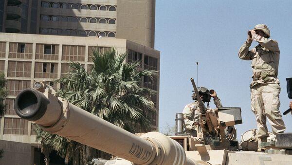 Američki vojnici na ulici u Bagdadu - Sputnik Srbija