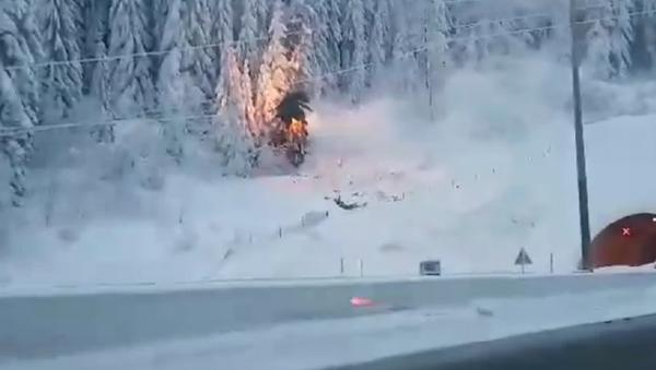 Пожар током снежне олује у Хрватској - Sputnik Србија