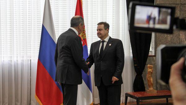 Министар спољних послова Русије Сергеј Лавров са колегом Ивицом Дачићем - Sputnik Србија