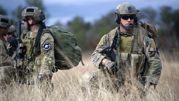 Specijalne jedinice američke vojske zelene beretke tokom vežbe u vazduhoplovnoj bazi Eglin - Sputnik Srbija