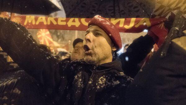Protesti u Makedoniji - Sputnik Srbija