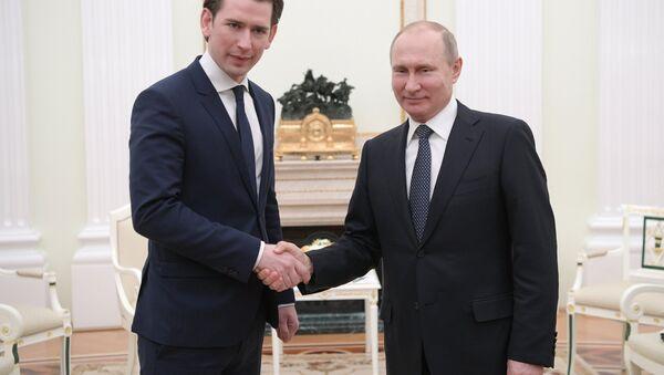 Austrijski kancelar Sebastijan Kurc i predsednik Rusije Vladimir Putin - Sputnik Srbija