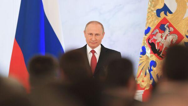 Predsednik Rusije Vladimir Putin se obraća Fedaralnoj skupštini - Sputnik Srbija