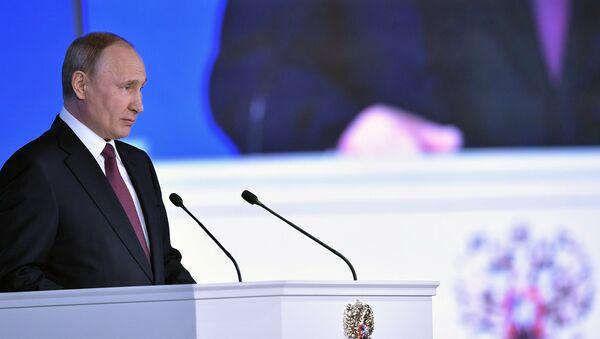 Руски председник Владимир Путин обраћа се Федералној скупштини - Sputnik Србија