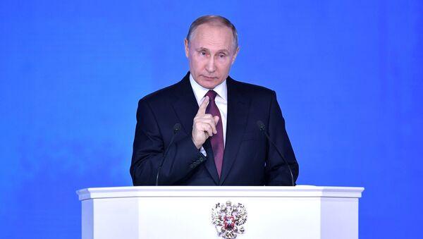 Ruski predsednik Vladimir Putin obraća se Federalnoj skupštini - Sputnik Srbija