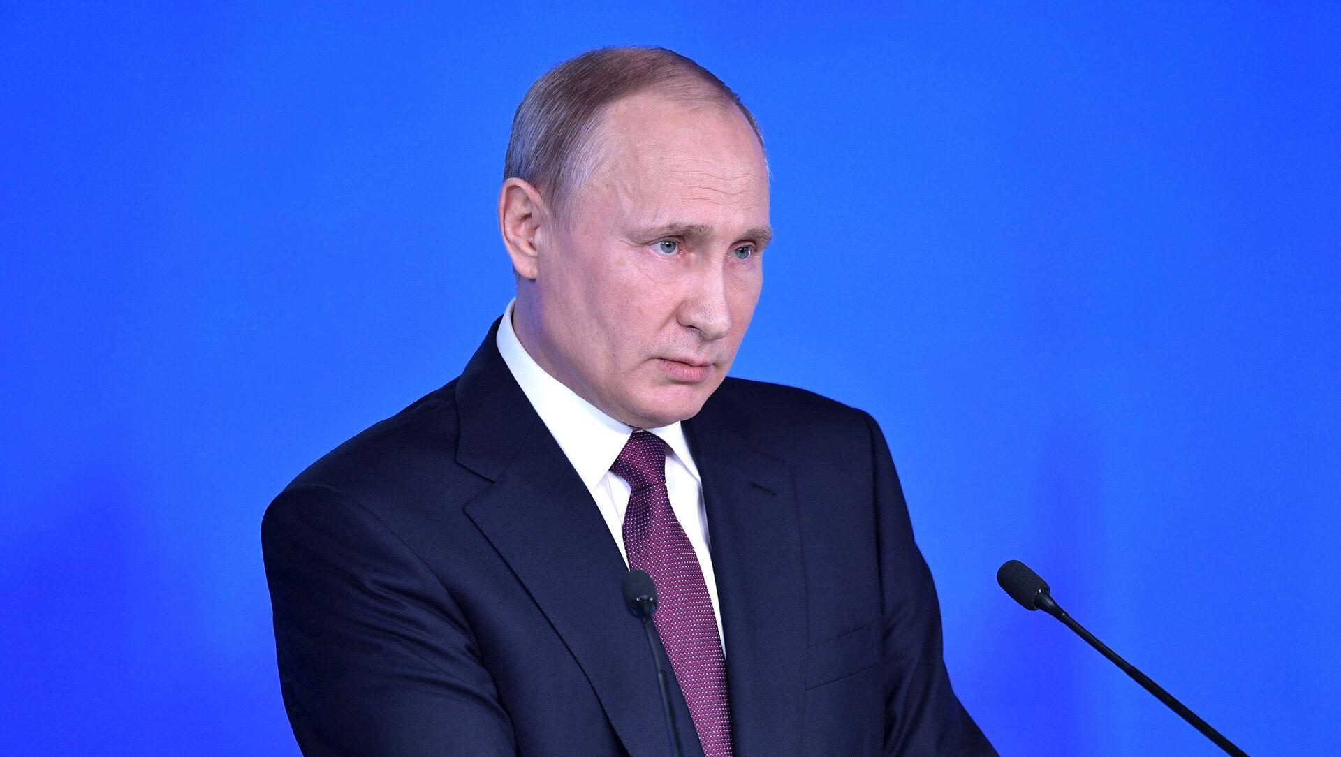 Ruski predsednik Vladimir Putin obraća se Federalnoj skupštini - Sputnik Srbija, 1920, 21.04.2021