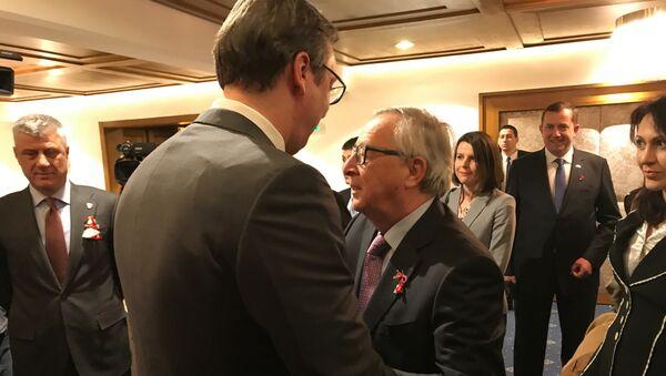 Predsednik Srbije Aleksandar Vučić na sastanku lidera Zapadnog Balkana u Sofiji - Sputnik Srbija