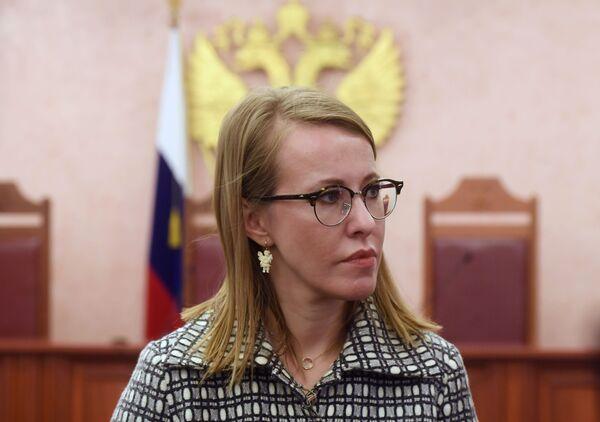 Кандидаткиња за председника Русије Ксенија Собчак - Sputnik Србија