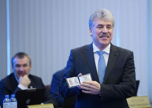 Kandidat za predsednika Rusije Pavel Grudinjin - Sputnik Srbija