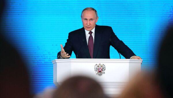 Kandidat za predsednika Rusije Vladimir Putin - Sputnik Srbija