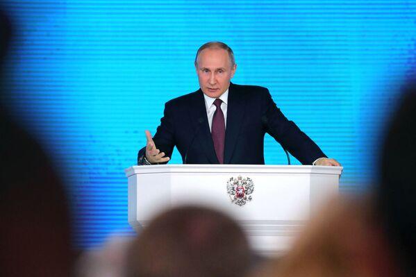 Кандидат за председника Русије Владимир Путин - Sputnik Србија