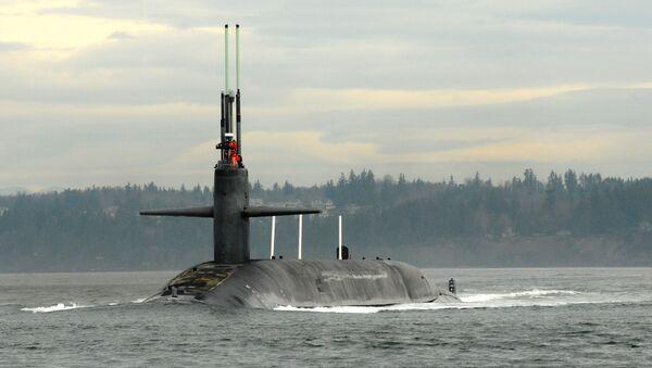 Američka podmornica Henri M. Džekson u bazi Kitsap-Bangor - Sputnik Srbija